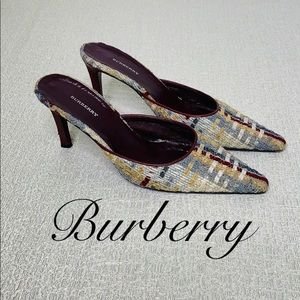 BURBERRY POINTED TOE MULES